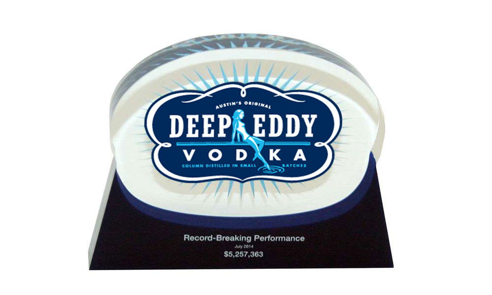 Deep Eddy Custom Acrylic Team Award