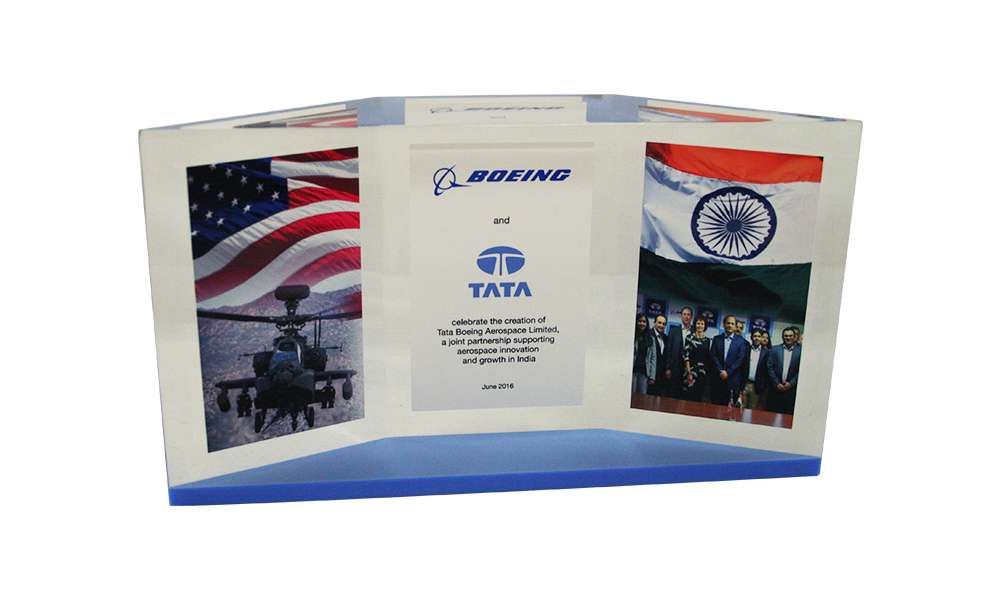 Custom Lucite for Boeing-TATA Joint Venture