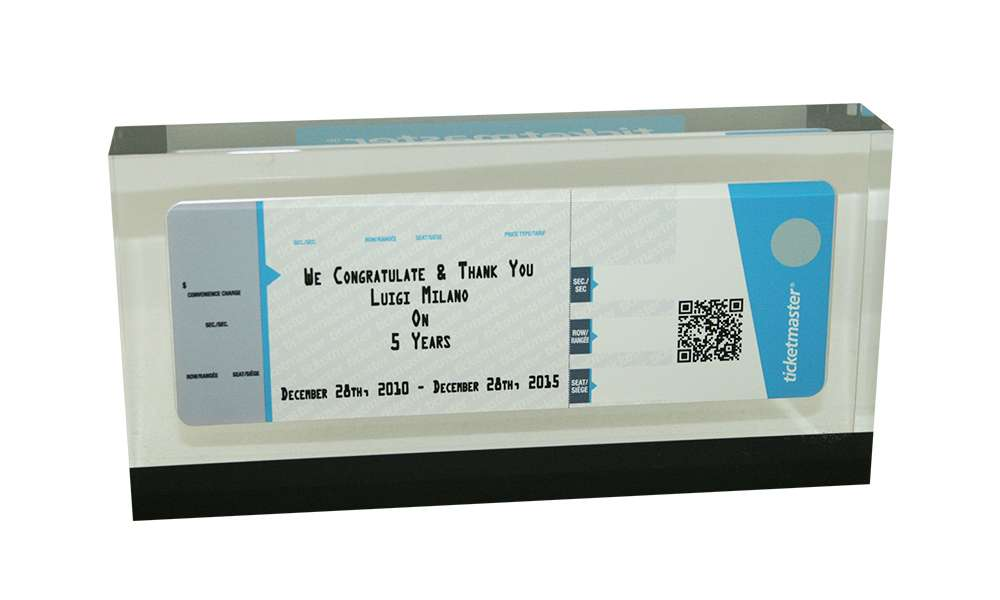 Ticketmaster Custom Corporate Award
