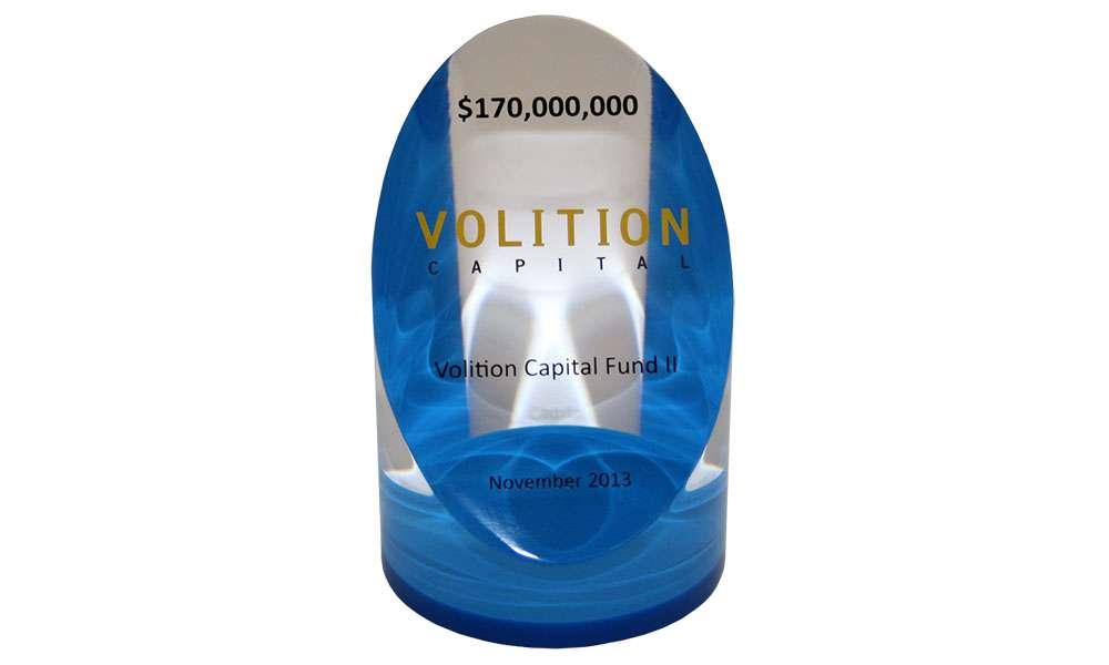 Volition Capital Fund Closing Lucite