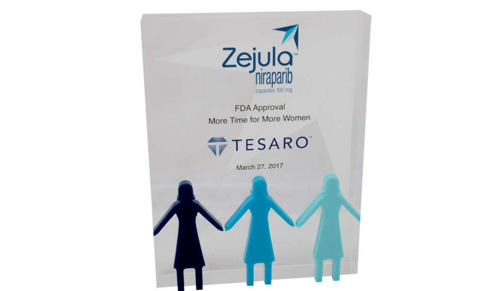 Custom Lucite for FDA Cancer Drug Approval