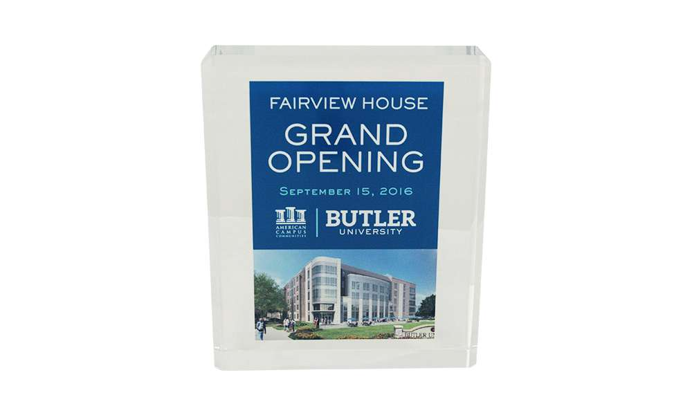 University Building Dedication Custom Acrylic