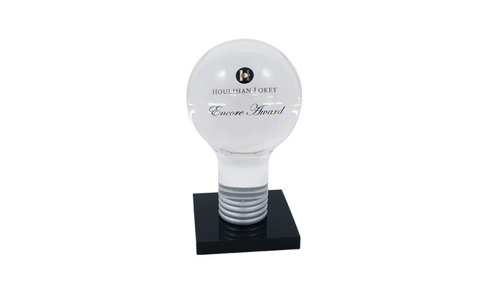 Light Bulb-Themed Employee Recognition Award