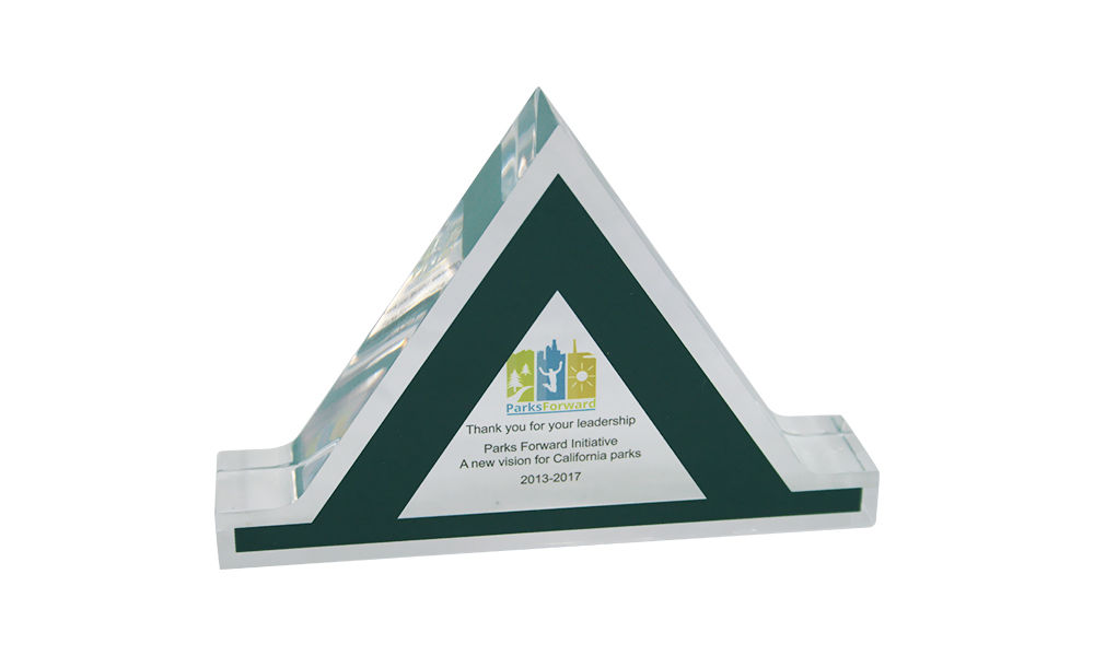 Custom Crystal Leadership Award