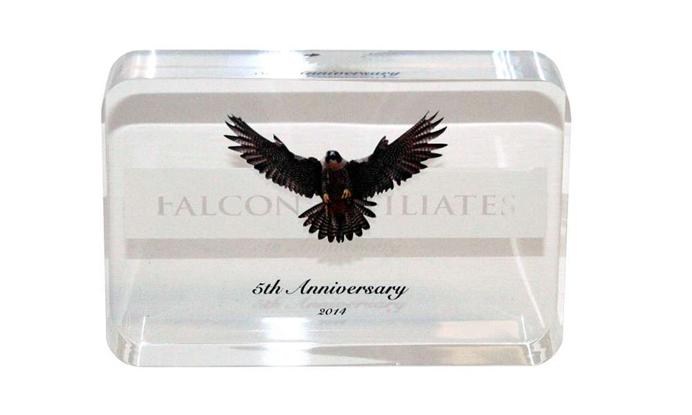 Corporate Anniversary Custom Lucite