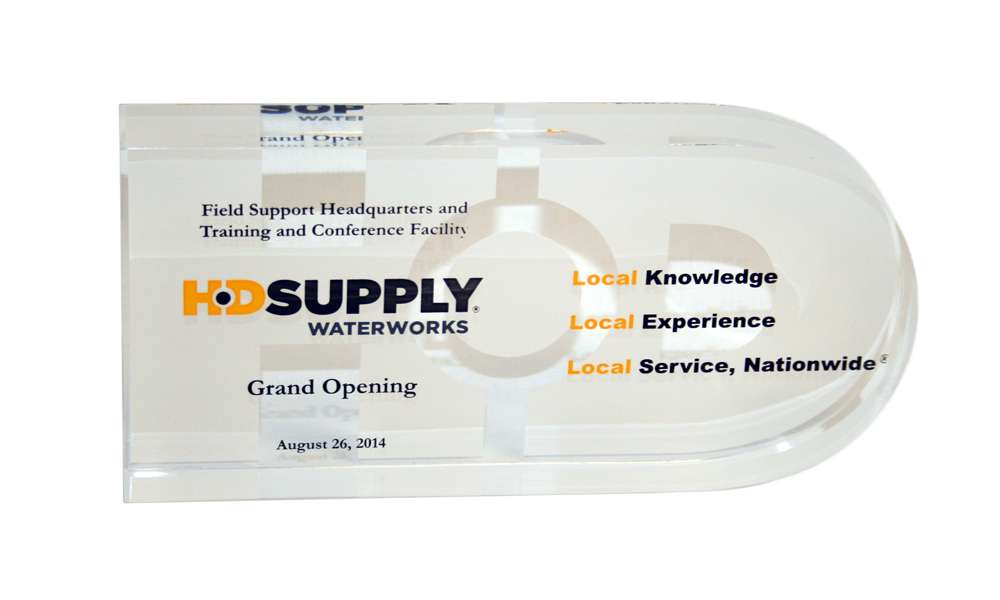 Lucite Commemorative for Facility Opening