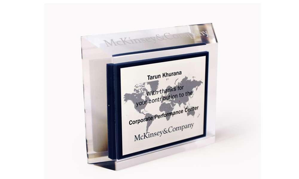 McKinsey Custom Acrylic Team Award