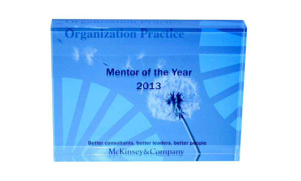 McKinsey Custom Acrylic Mentor of The Year Award
