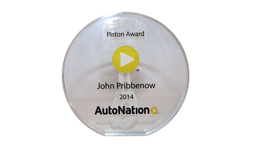 AutoNation Custom Crystal Employee Recognition Award