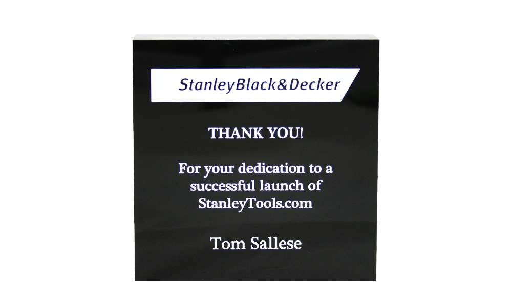 StanleyBlack&Decker Custom Acrylic Award
