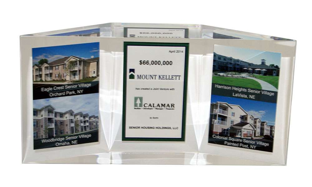 Custom Lucite Commemorating Real Estate Joint Venture