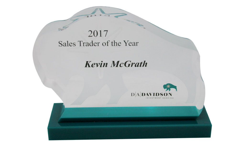 Custom Lucite Sales Award