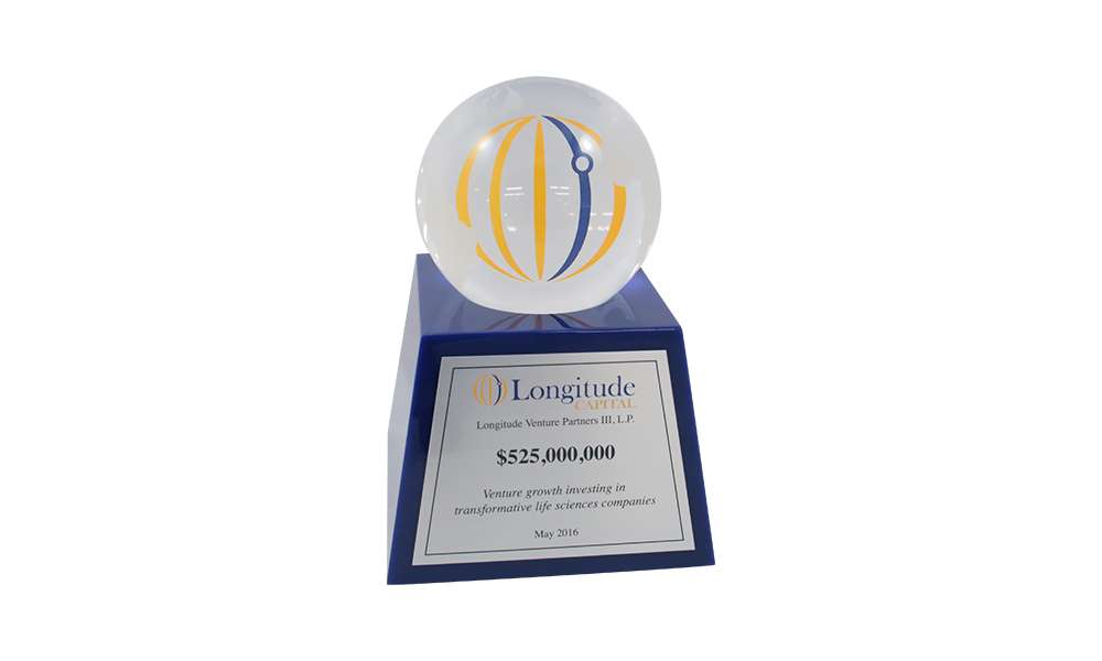 Custom Lucite Fund Closing Commemorative