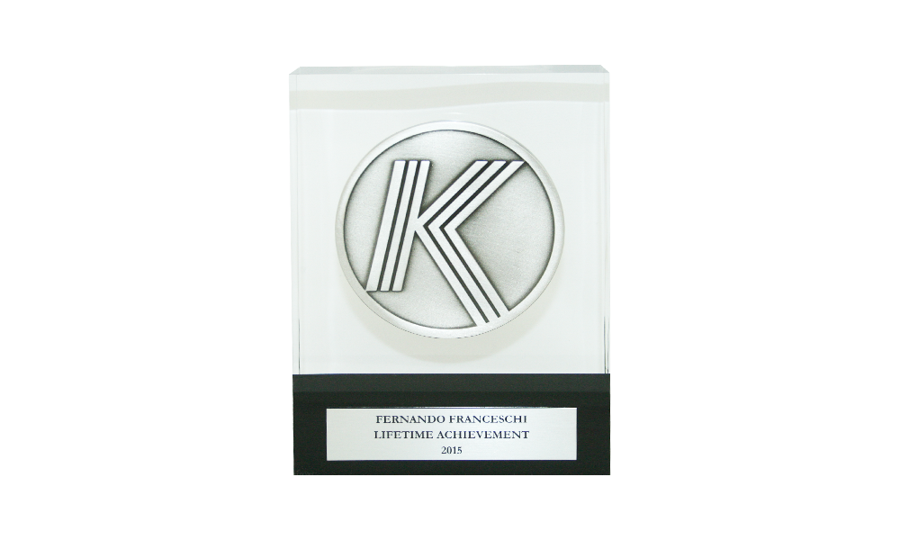 Acrylic Achievement Award with Pewter Medal