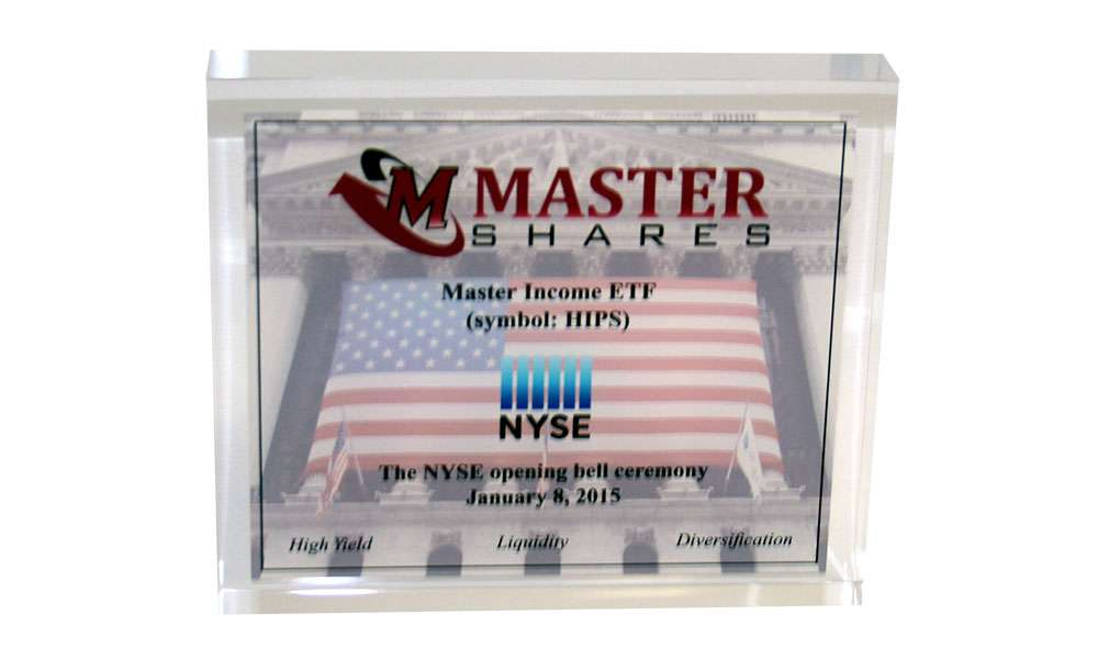NYSE Opening Bell Acrylic Commemorative