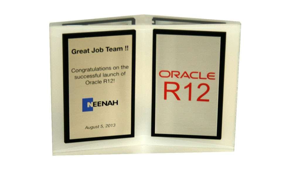 Oracle Custom Acrylic Team Award