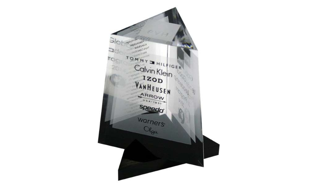 Custom Acrylic Retail Industry Award