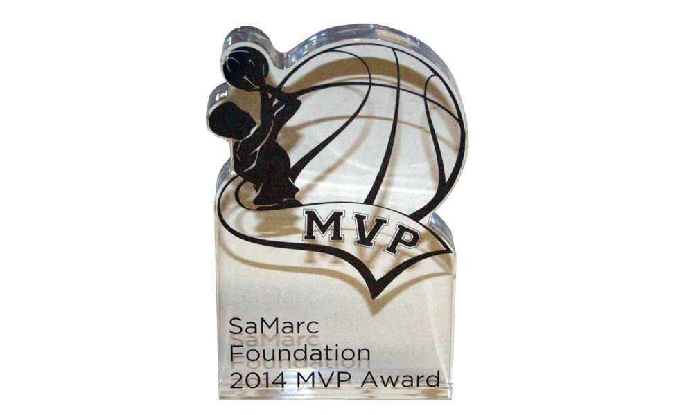 Basketball-Themed Custom Acrylic Award