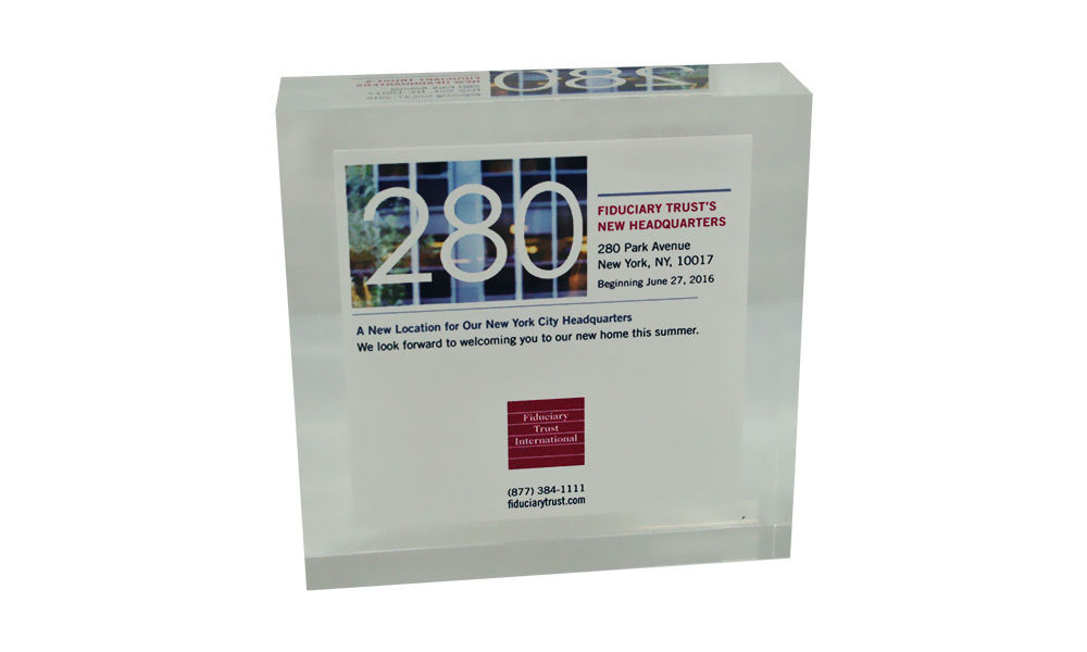 Lucite Commemorating New Corporate Headquarters