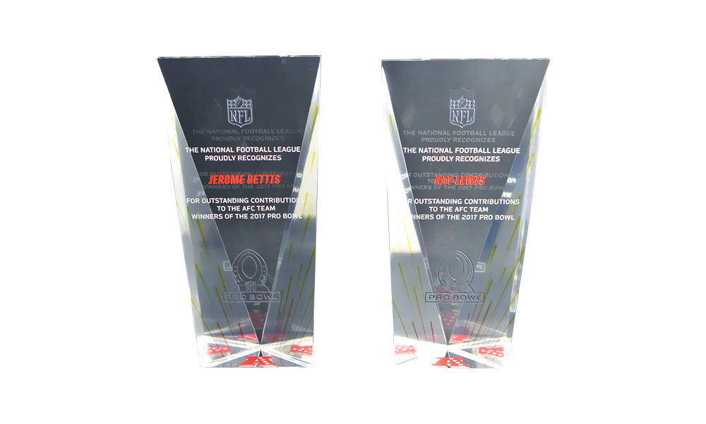 Custom NFL Crystal Pro Bowl Awards