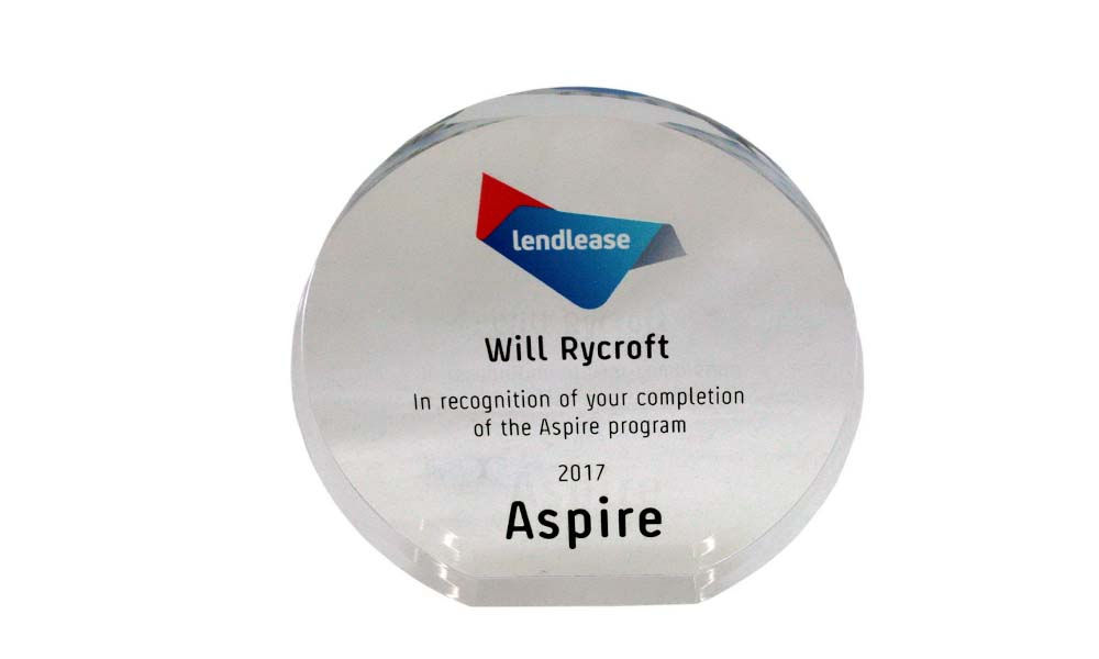 Custom Acrylic Award Marking Completion Corporate Training