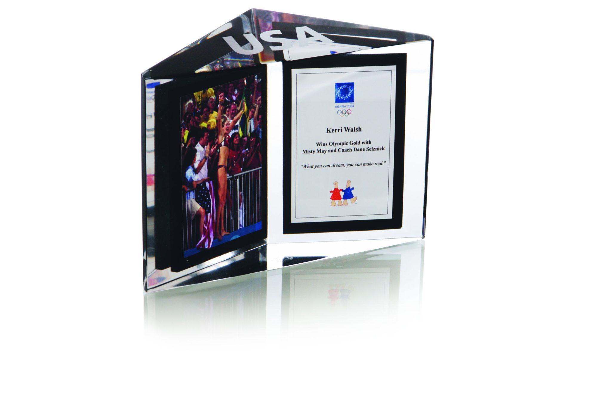 Custom Acrylic Award for Olympic Gold Medal Team