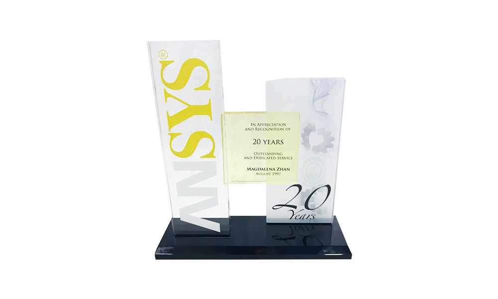 Ansys Custom Crystal 20 Years-of-Service Award