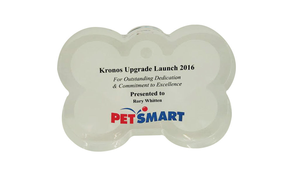 PetSmart Custom Acrylic Team Award