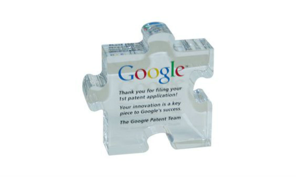 Custom Acrylic Award for Google Patent Filing