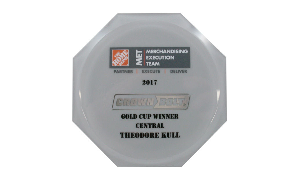Home Depot Gold Cup Custom Acrylic Award