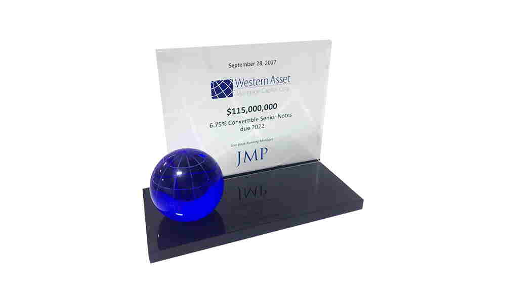 Globe-Themed Custom Crystal Award