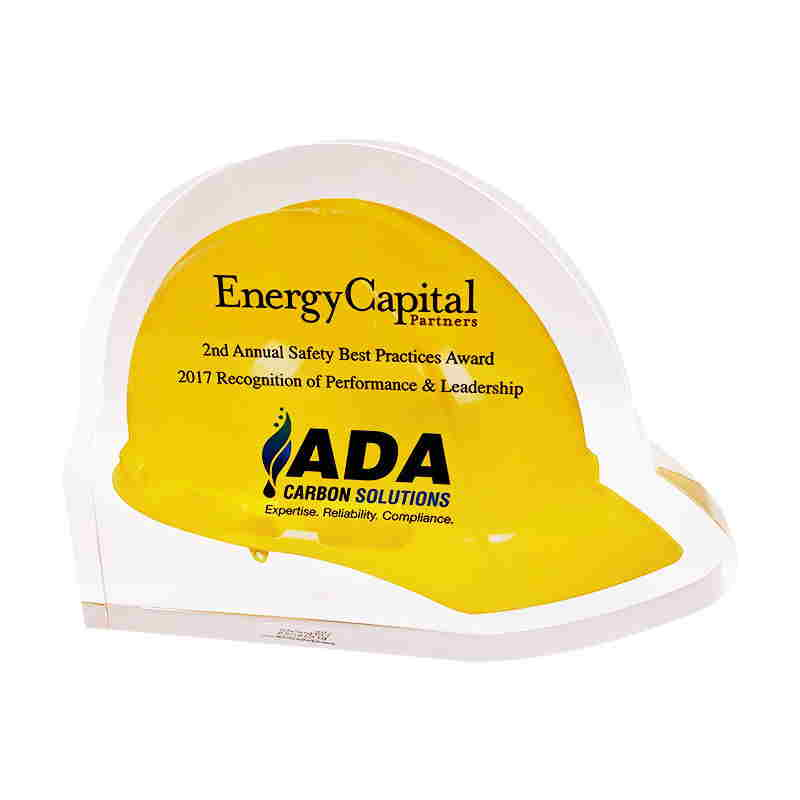 Hard Hat-Themed Custom Crystal Safety Award