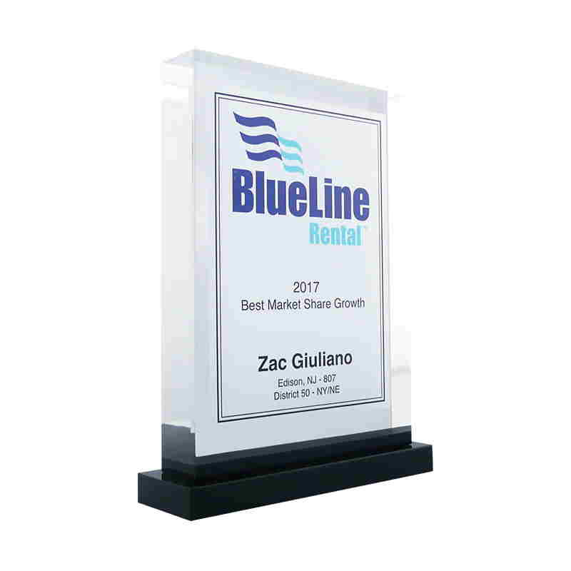 Custom Acrylic Rectangle Sales Achievement Award