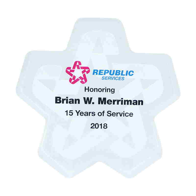 Custom Years-of-Service Recognition Award