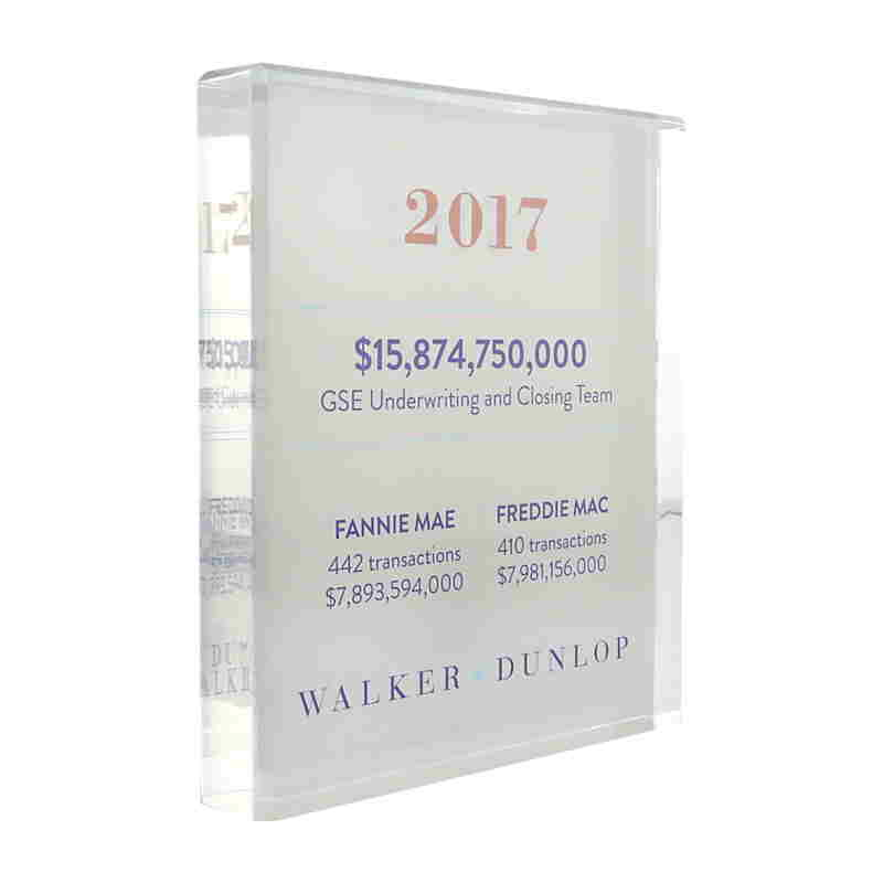Closing And Underwriting Milestone Commemorative For Real Estate Industry