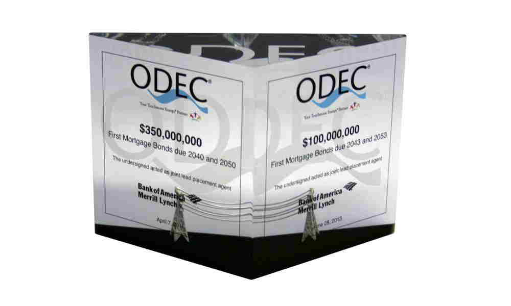 Two-Transaction Lucite Tombstone