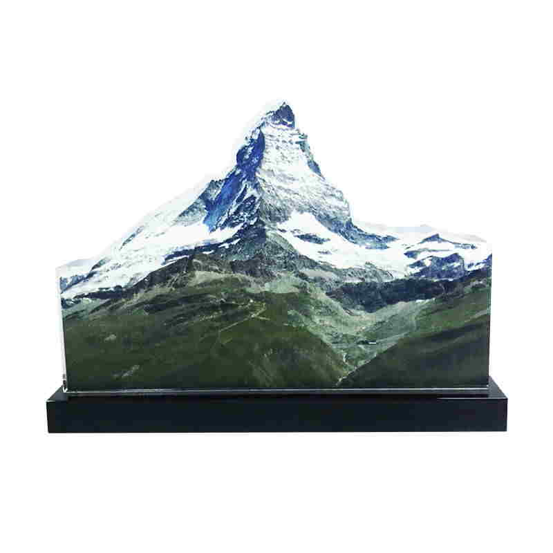 Mountain-Themed Crystal Tombstone