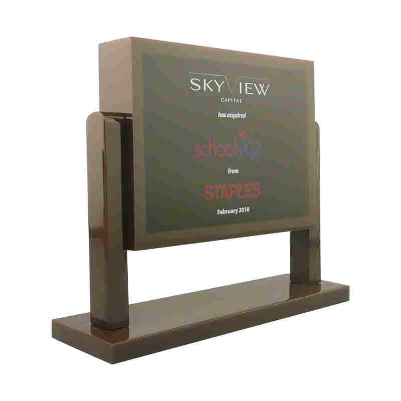 Blackboard-Themed Lucite Tombstone