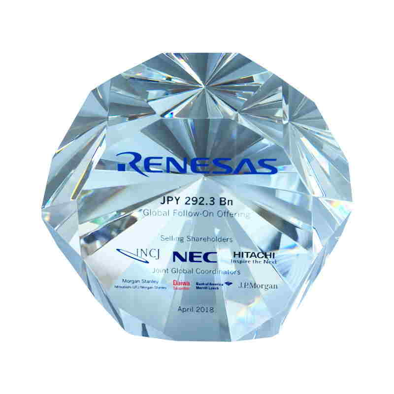 Diamond-Shaped Crystal Deal Toy