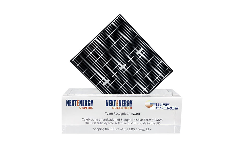 Solar Panel-Themed Team Award