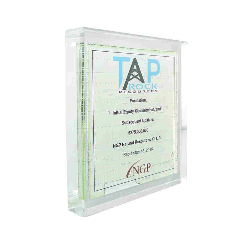 Map-Themed Lucite Commemorative