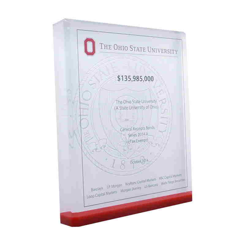 Custom Lucite with The Ohio State University Seal