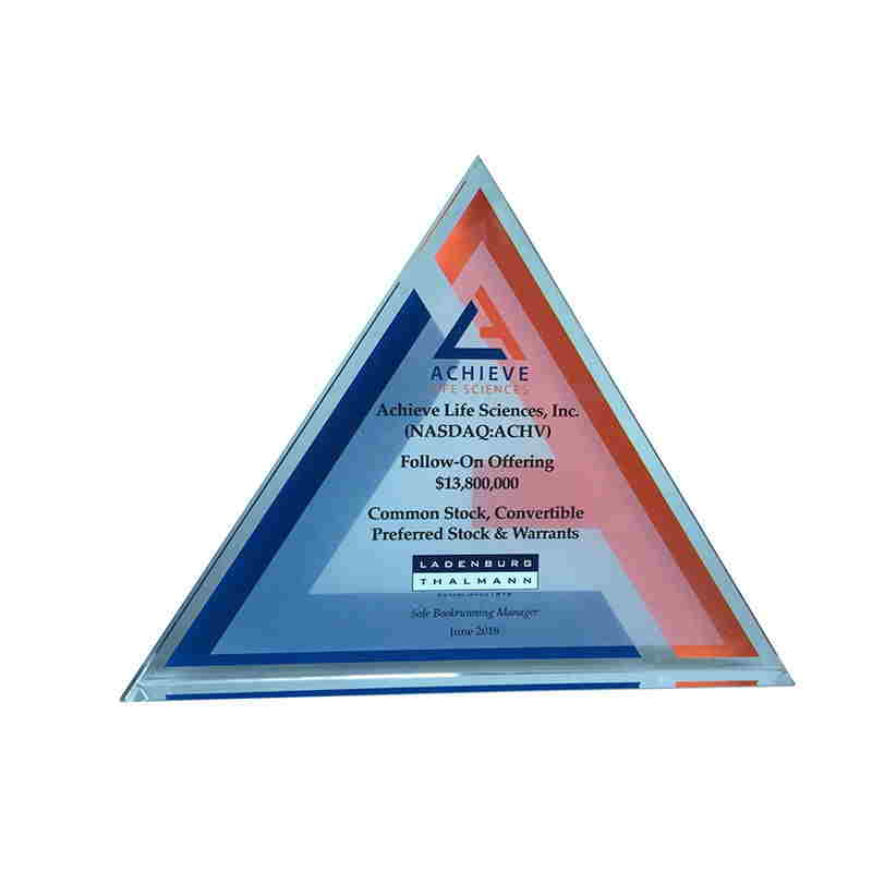 Triangle-Shaped Crystal Tombstone