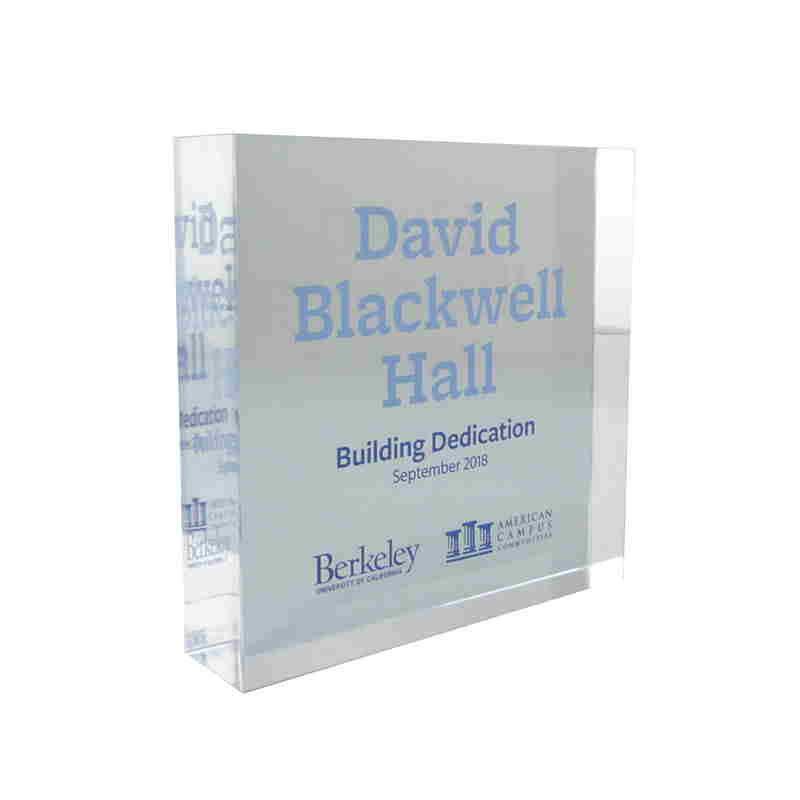 Blackwell Hall Building Dedication Commemorative