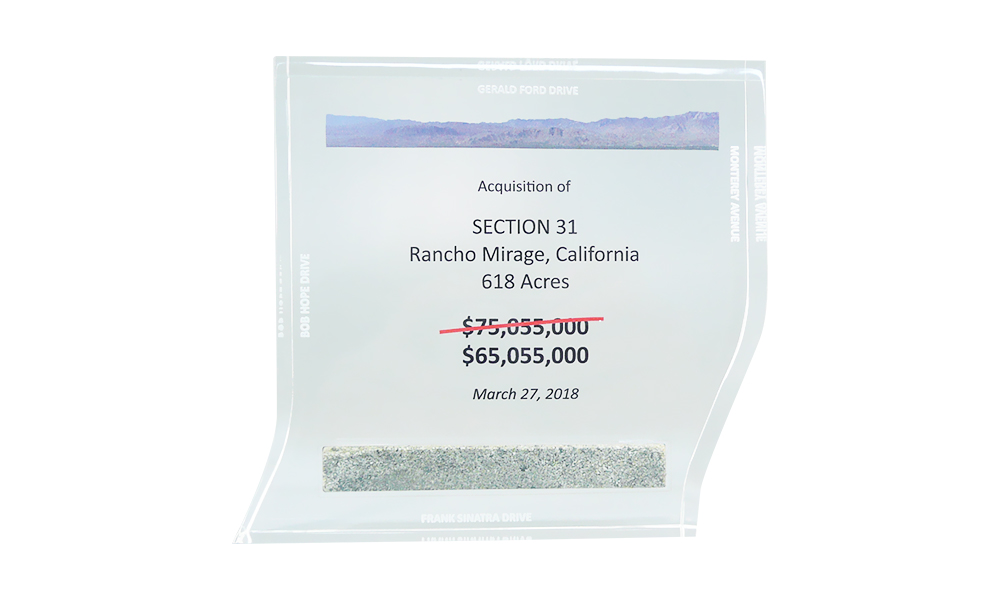 Real Estate Deal Toy with Sand from Site