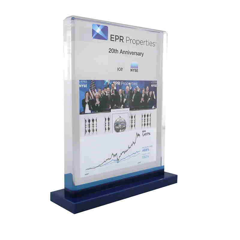 Custom Lucite Commemorating Ringing of NYSE Closing Bell