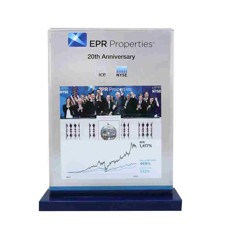 Custom Lucite for NYSE Listing Anniversary