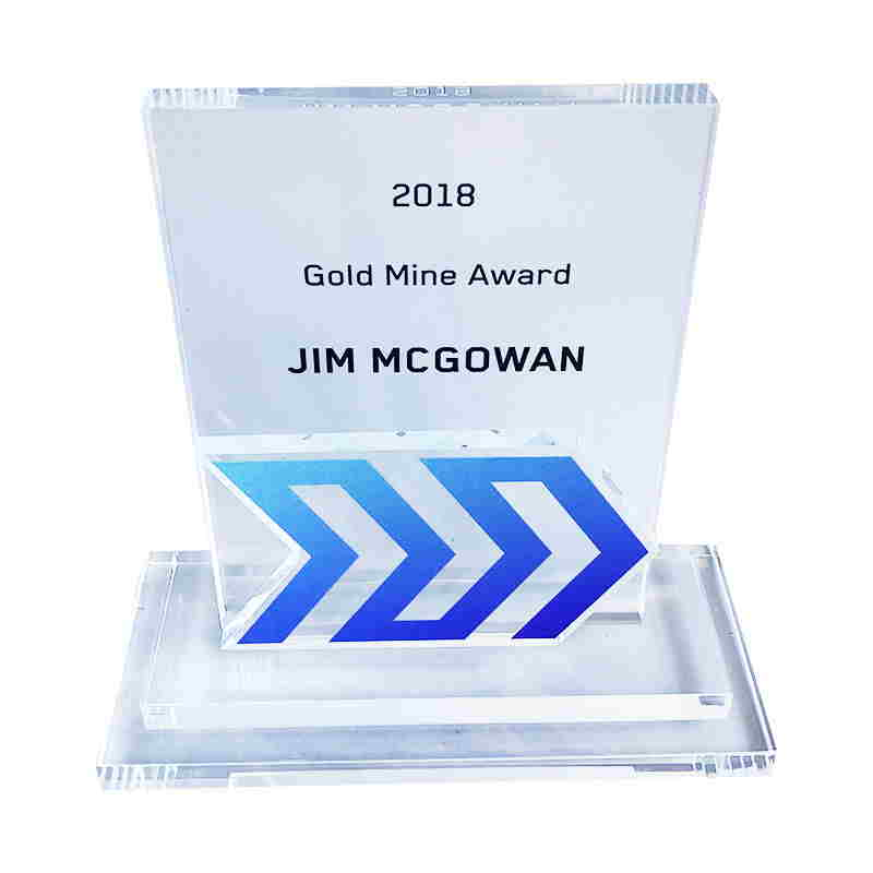 Logo-Themed Crystal Sales Award