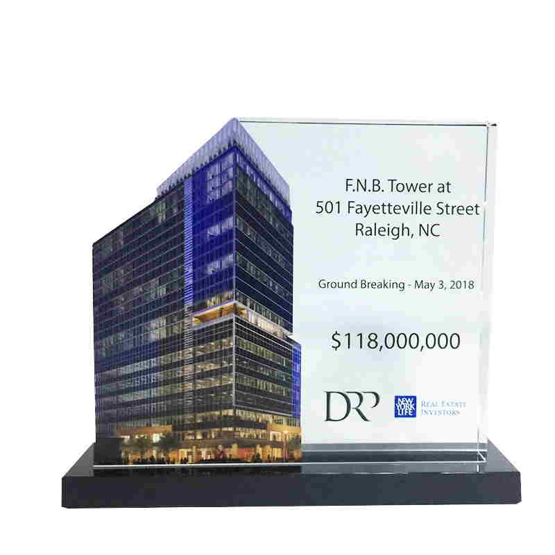 Custom Crystal for Office Tower Groundbreaking