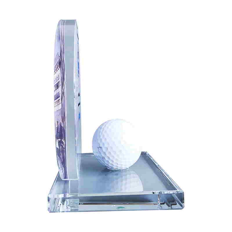 Golf-Themed Crystal Deal Tombstone